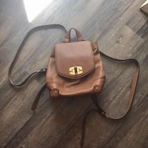 Handbags - Brown leather backpack